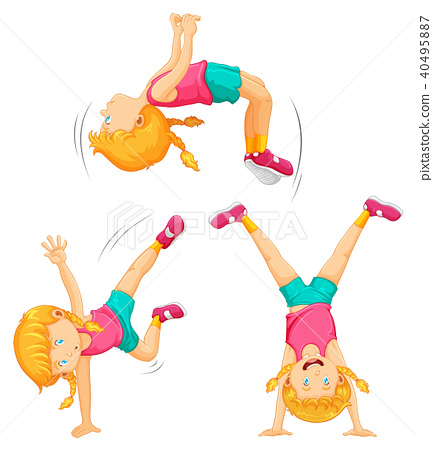 An Energetic Girl Work Out 40495887