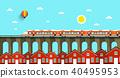 landscape, vector, bridge 40495953