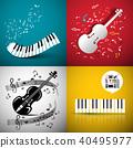 piano violin vector 40495977