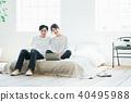 couple, bedchamber, bedroom 40495988