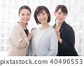 微笑的女商人三名年輕日本婦女 40496553