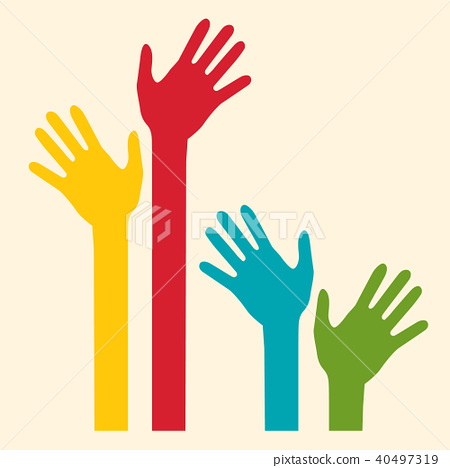 Colorful Palm Hands 40497319