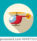 Helicopter Flat Design Symbol. Vector Icon. 40497323