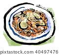 อาหารอิตาลีเส้นยาว 40497476