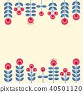 Scandinavian design flowers 40501120