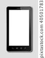 smartphone, digital tablet isolated on dark grey 40501783