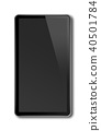 Black smartphone, digital tablet isolated on white 40501784