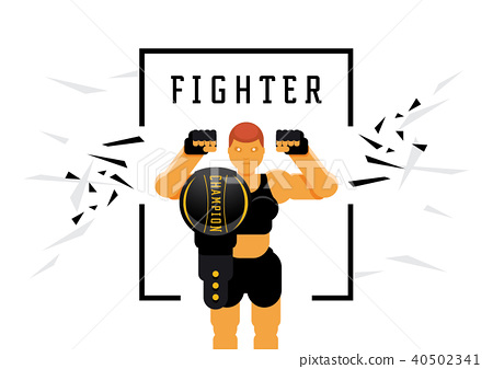 skinhead woman fighter with championship title 40502341