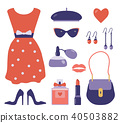 French Style Clothes and Accessories Set 40503882