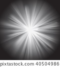 White sun rays with flare 40504986