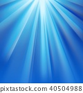 Blue polar rays with flare 40504988