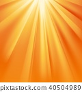 Yellow sun rays with orange flare 40504989