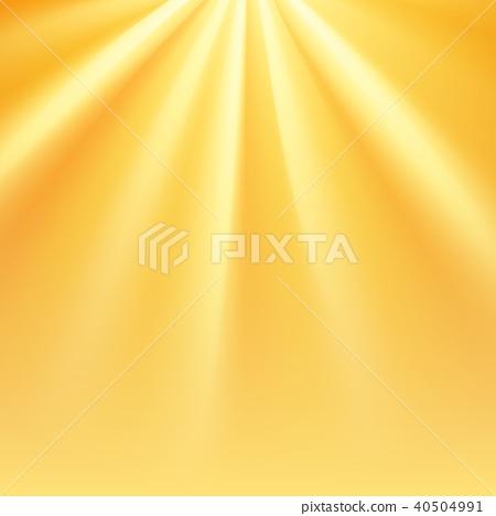Yellow sun rays with orange flare 40504991