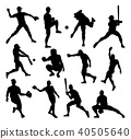 baseball silhouette player 40505640