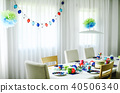 Multi-coloured kids birthday party Rainbow themed 40506340