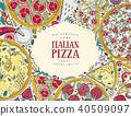 pizza, italian, design 40509097