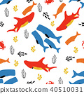 pattern with fish and coral 40510031