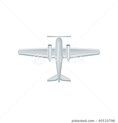 Flat vector icon of airplane with propeller on nose. Air transport. Aviation theme. Element for 40510796