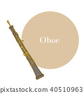 Oboe in Hand Drawn Style 40510963