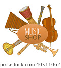 instruments, musical, vector 40511062