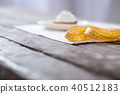 Selective focus of a yellow centimeter tape 40512183