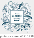 seafood, vector, illustration 40513730