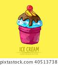ice cream illustration 40513738