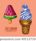 ice, cream, illustration 40513739