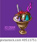 ice, cream, illustration 40513751