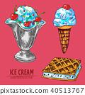 ice, cream, illustration 40513767