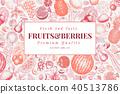 fruits, vector, illustration 40513786
