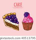 cake sketch food 40513795