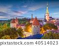 Tallinn, Estonia Historic Skyline 40514023