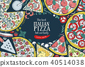 pizza, italian, vector 40514038