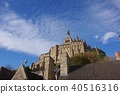 Mont Saint Michel with good weather 40516316