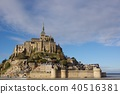 mont-st-michel, world heritage, evening 40516381