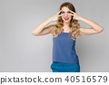 Attractive woman in fashionable clothes 40516579