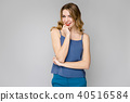 Attractive woman in fashionable clothes 40516584