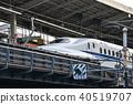 bullet train, shinkansen, kyoto station 40519707