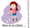 A Young Girl Having an Accident 40520043
