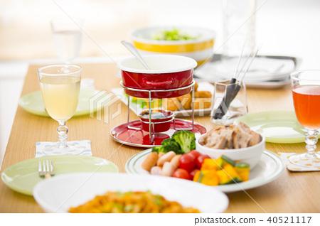 派對美食排隊在桌子上 40521117