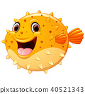 Cute puffer fish cartoon 40521343
