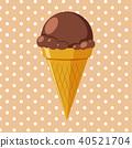 chocolate cone food 40521704