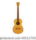 A Classical Guitar on White Background 40521750