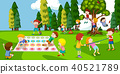 children, park, vector 40521789