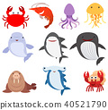 Many types of sea creatures 40521790