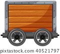 wooden cart vector 40521797
