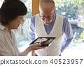 老人 成熟的女人 一個年輕成年女性 40523957