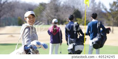 女子打高爾夫球 40524245