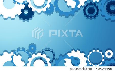 Engineering Gears Wallpaper in Blue 40524496